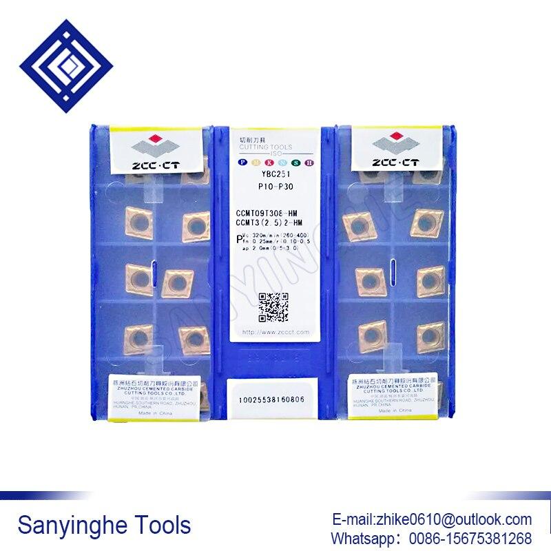 free shipping high quality sanyinghe 10pcs/lots  CCMT09T304-HF / CCMT09T308-HF YBC251  cnc carbide turning inserts