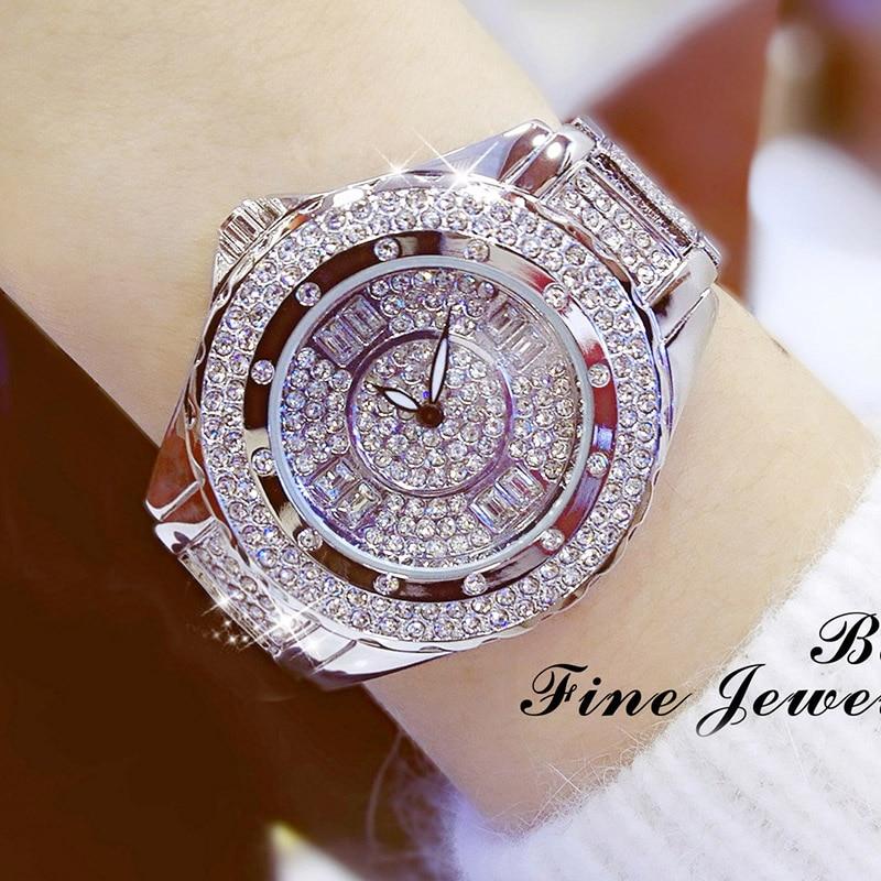 2019 novos relógios femininos de luxo diamante marca superior elegante vestido cristal quartzo relógios senhoras relógio pulso relogios femininos 2018