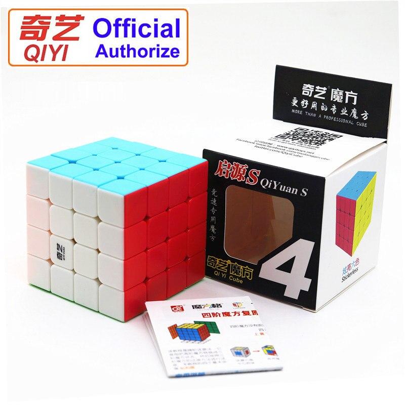 QIYI Professional primavera 4x4x4 Cubo mágico Velocidad suave sensación buena no se decolora Cubo mágico juguetes educativos para niños QY-4-SS