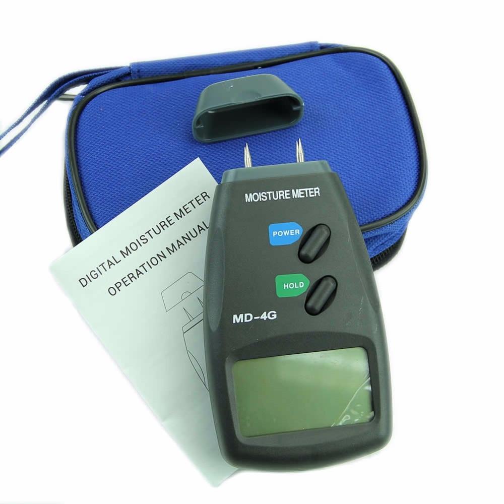 New 5% - 40% Digital LCD 4 Pin Wood Moisture Humidity Damp Meter Detector Tester