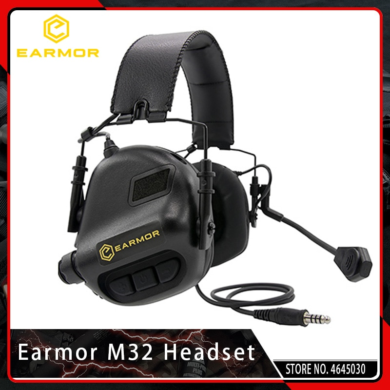 OPSMEN Earmor Airsoftsports Tactical M32 Noise Canceling Headphones Military Aviation Communication  Softair Earphones Shooting