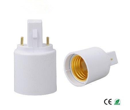1000 pçs/lote 2 pinos G23 para E27 soquete de lâmpada adaptador G23 para E26 adaptador de suporte da lâmpada