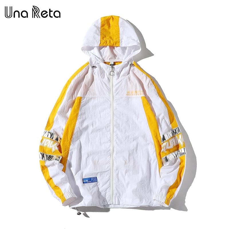 Una Reta Jacket Men's Spring Autumn New Streetwear Thin Jacket Tracksuit Splicing Lover Coat Hip Hop Plus Size Loose Man Jacket