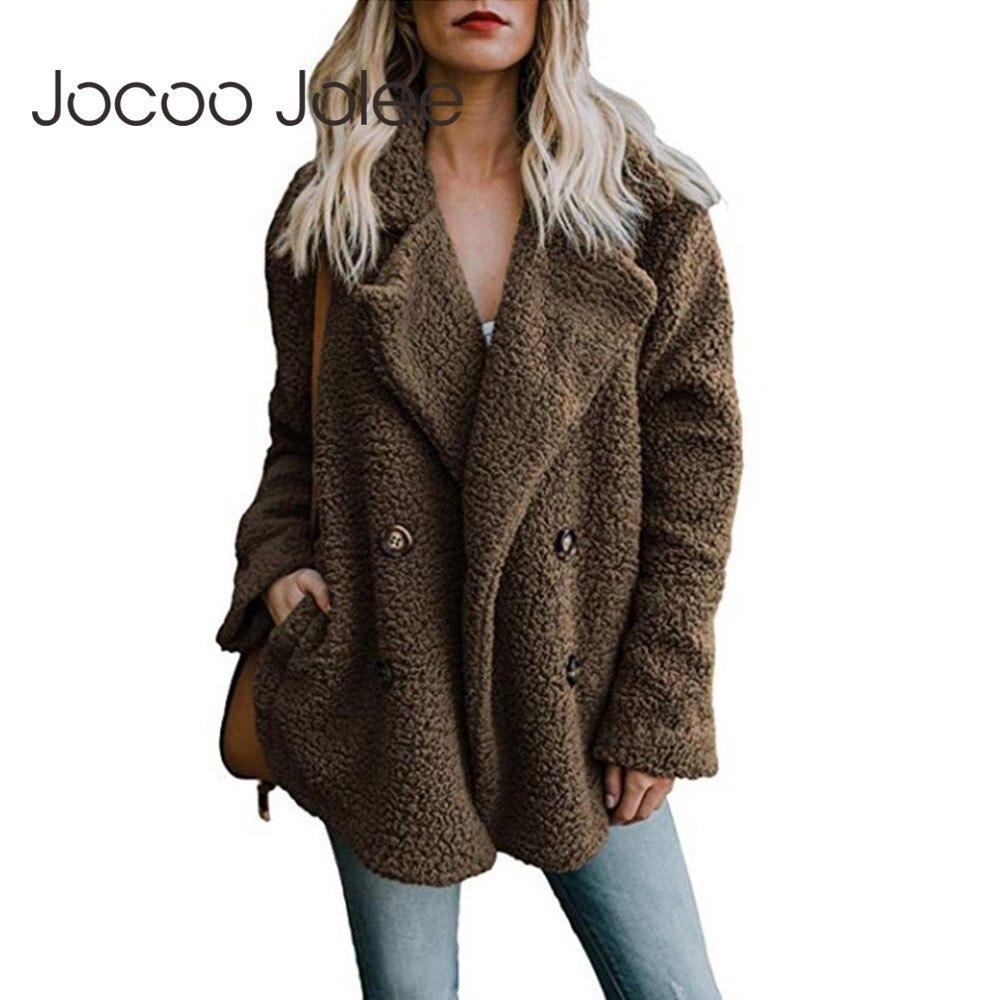 Куртка женская плюшевая в стиле оверсайз, мягкая пушистая флисовая верхняя одежда, теплая шуба из искусственного меха, верхняя одежда, осен...