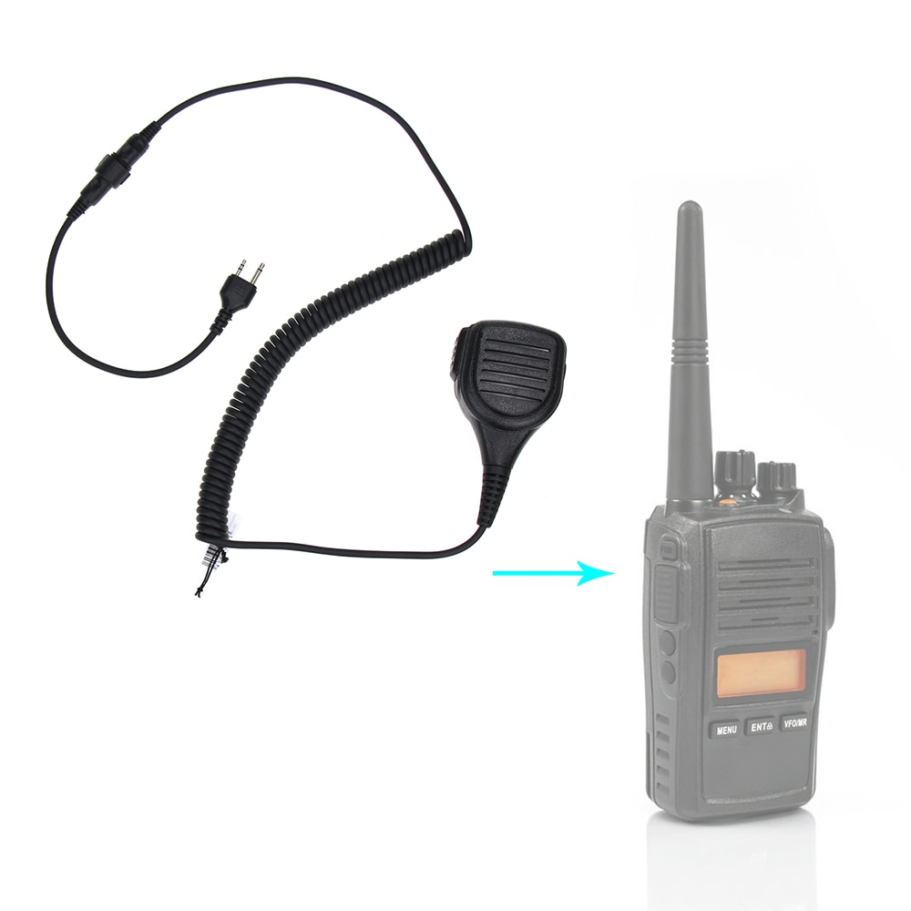Фото - Walkie Talkie Speaker Mic Portable Handheld 2 Pin Shoulder Remote PTT For Midland Two Way Radio GXT550/650 GXT1000 GXT1000VP4 tactical bowman elite ii radio headset earpiece with u94 style ptt for midland 2 pin walkie talkie g6 g7 gxt550 gxt650 lxt80 lx
