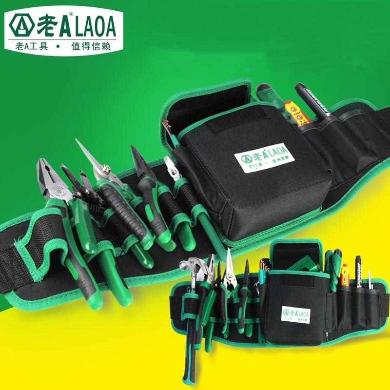 Laoa repair toolkit multifuncional ferramenta bolsos 600d à prova de água oxford pano ferramentas de reparo pacote
