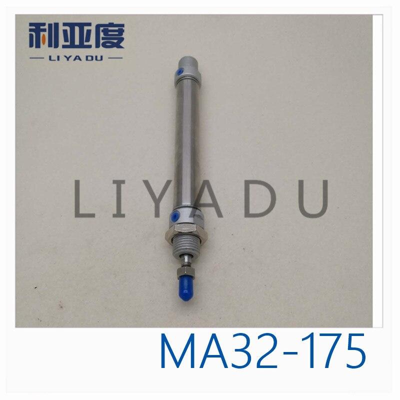Cilindro de acero inoxidable MA32-175 MA32X175 diámetro interior miniatura de 32mm 175mm carrera MA32 * 175-S-CA MA32 * 175-S-CM MA32 * 175-S-U