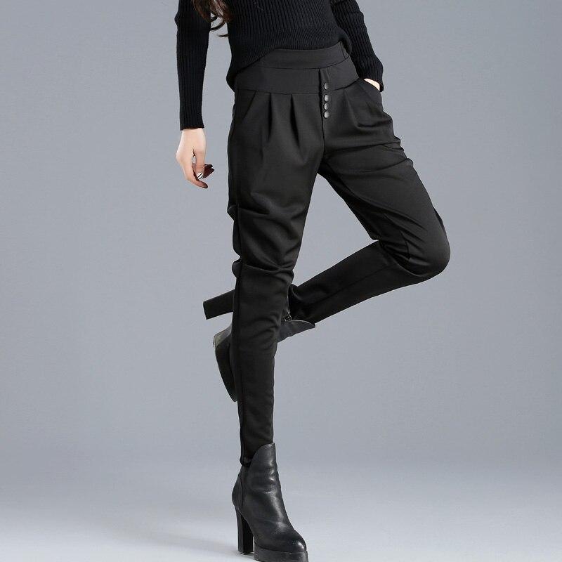 Лидер продаж 2020, летние корейские женские классические шаровары с высокой эластичной талией, модные тонкие леггинсы, однотонные штаны до щи...