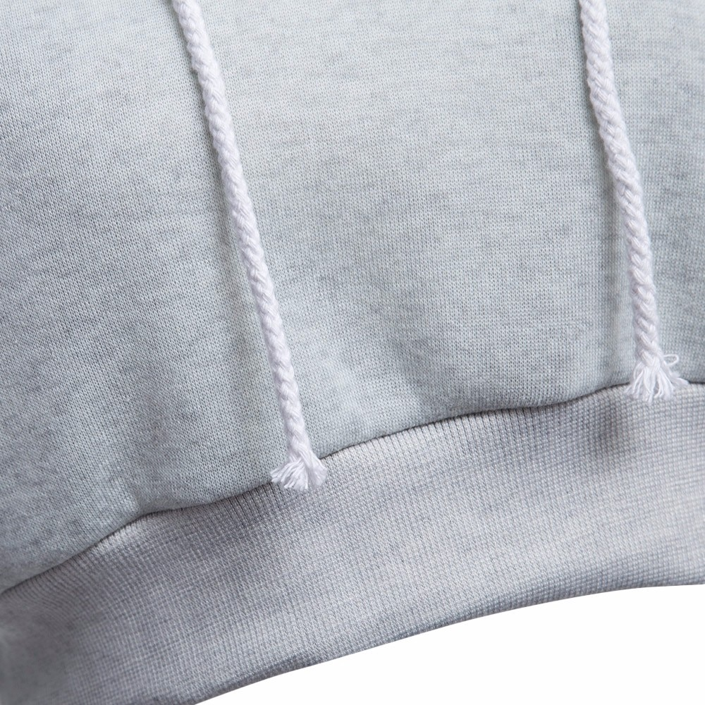 AZULINA Dorywczo Szary Czarny Bluzy Swetry Kobiet Bluza Zima Sexy Szary Krótki Crop Przycięte Dres Z Kapturem dla Kobiet 14