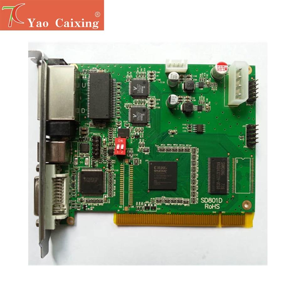 Linsn synchronrous Tarjeta de envío 802D controlador para P1.2 P2 P2.5 P3 P3.91 P4 P4.81 P5 P6 P8 P10 Interior Exterior RGB led panel