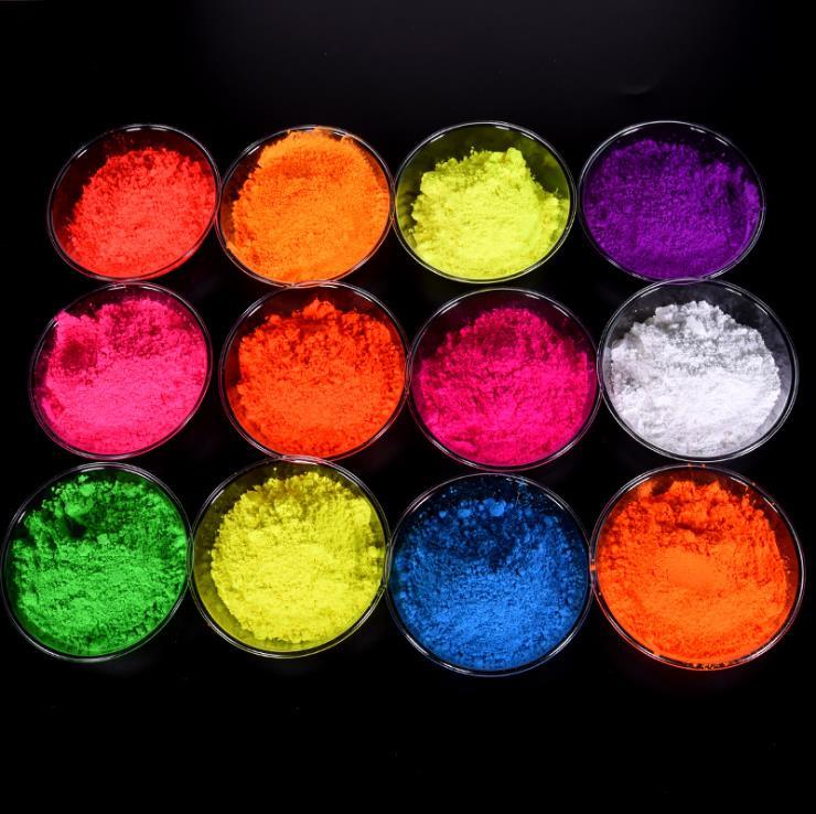 Pigmentos de néon do efeito da fluorescência do gradiente da cor fluorescente do pó do pigmento da multi-cor seguros para usados como a sombra de olho