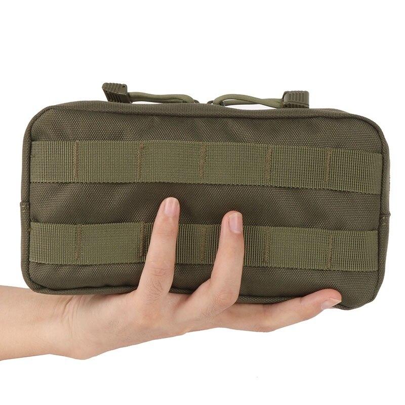 Ao ar livre 600d viajar engrenagem molle bolsa saco militar tático airsoft colete sundries câmera revista saco de armazenamento