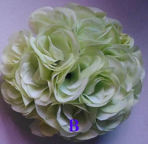 SPR light green rose plastic center wedding flowers balls decorations-15cm ,factory directly sales