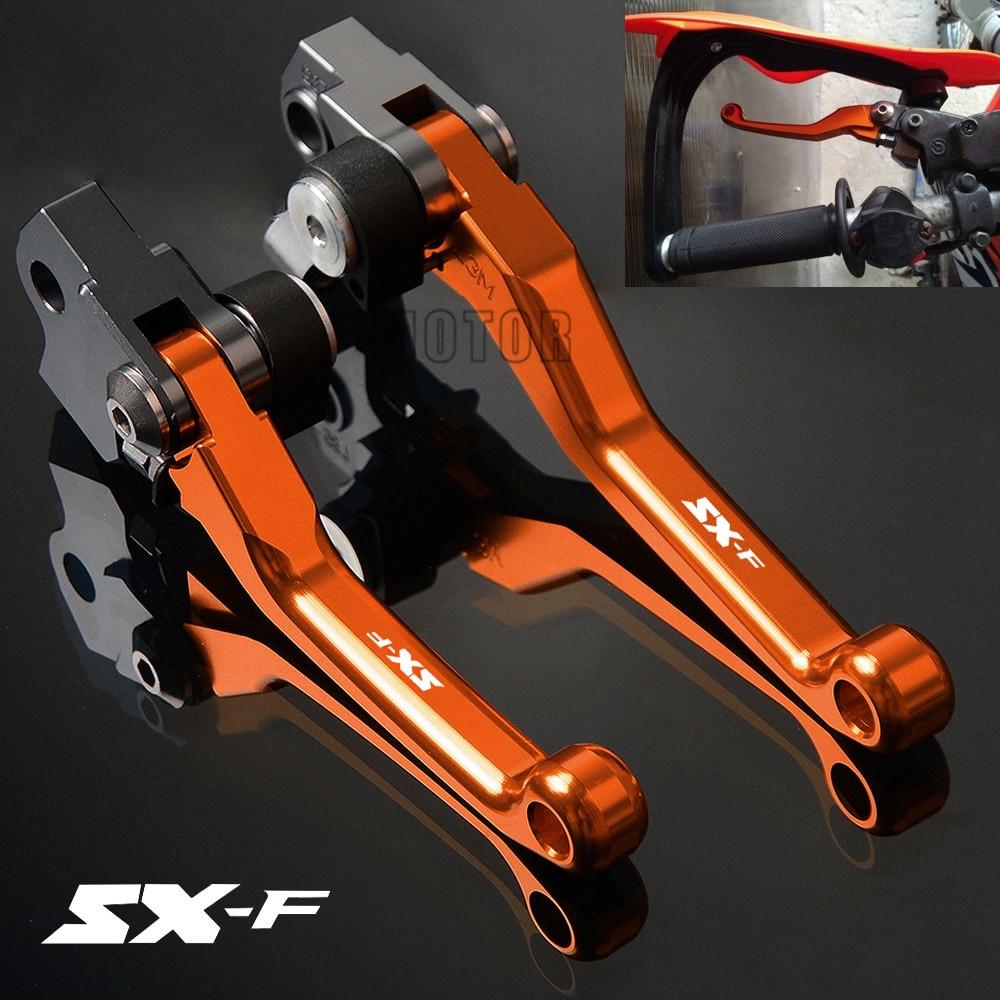 For KTM 250SX-F/350SX-F/450SX-F/505SX-F CNC Motorcycle Motocross Dirt Bike Pivot Brake Clutch Levers 250/350/450/505 SXF SX F