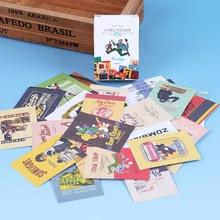 48 pièces/boîte créatif rétro autocollant bricolage Kawaii boîte dallumettes autocollants sceau Album journal Scrapbooking décoration papeterie fournitures