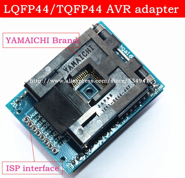 Адаптер LQFP44 TQFP44 К DIP40 QFP44, тестовый блок для интерфейса AVR ISP, адаптер IC, программатор, розетки