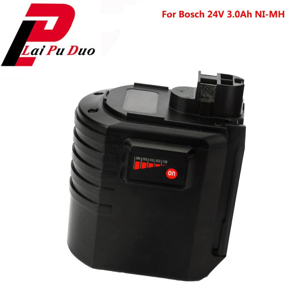 24V 3000mAh Bosch pack de batería recargable de baterías de reemplazo para GBH24VRE 607 2 335 098 GBH 24VFR