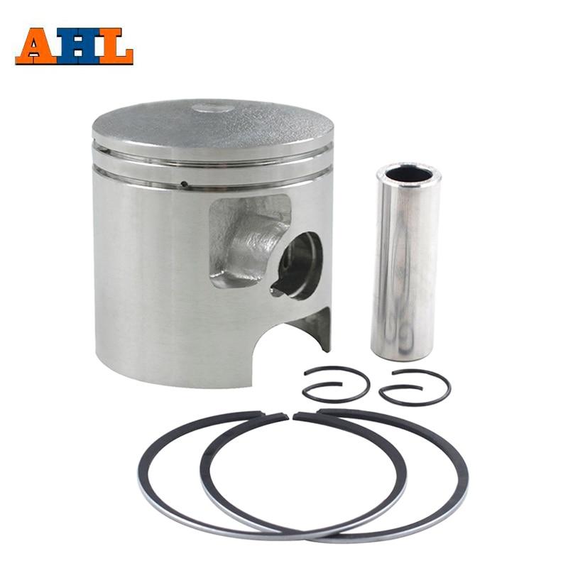 AHL Bore Size 56 56.25 56.5 57 mm Motorcycle Standard Piston Kit Pin Rings Clips Set For Kawasaki KD