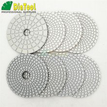 "DIATOOL 8pcs 4"" diamond wet flexible polishing pads Granite Marble or 8pcs White resin bond 100mm sanding discs with a backer"