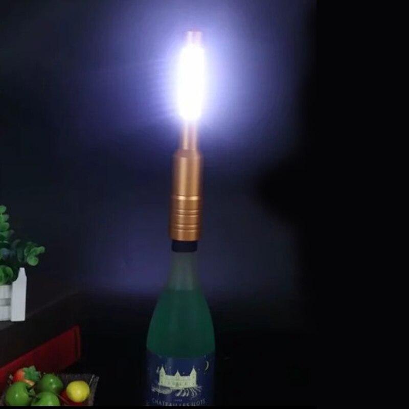 السحر LED الفضة النحاس غطاء زجاجة أضواء ليلية غطاء زجاجة نبيذ أضواء وامضة للمنزل ديكور شحن مجاني 20 قطعة/الوحدة