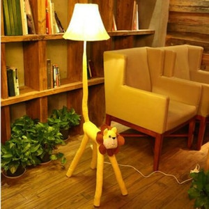 Cartoon Lovely Cloth Lion E27 Dimmer Floor Lamp With Remote Control For Bedroom Kid's Present Gift 1176