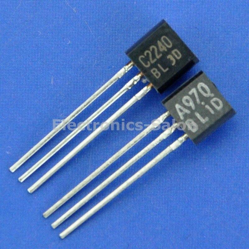 (10 unids/lote) Transistor & 2SC2240-BL Transistor de Audio de bajo ruido, A970 C2240.