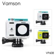 Vamson pour Xiaomi pour Yi bleu boîtier étanche 40 M sous-marine plongée sport étanche boîte pour Xiaomi pour yi caméra daction VP608