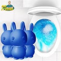 Cute Blue Rabbit Toilet Cleaner Magic Automatic Flush Toilet Cleaner Helper Blue Bubble Cleaning Deodorizes Bathroom 65 Days Use