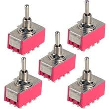 1 interruptor miniinterruptor de 12 pines 4PDT 2 posiciones ON-ON 2A 250 V/5A 125VAC VE069 P