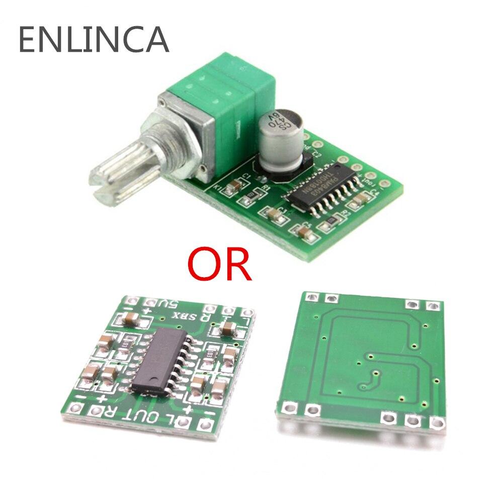 1-5 шт. супер мини плата цифрового усилителя 2*3 Вт PAM8403 Класс D эффективный 2,5-5 в USB с и без с переключателем потенциомета