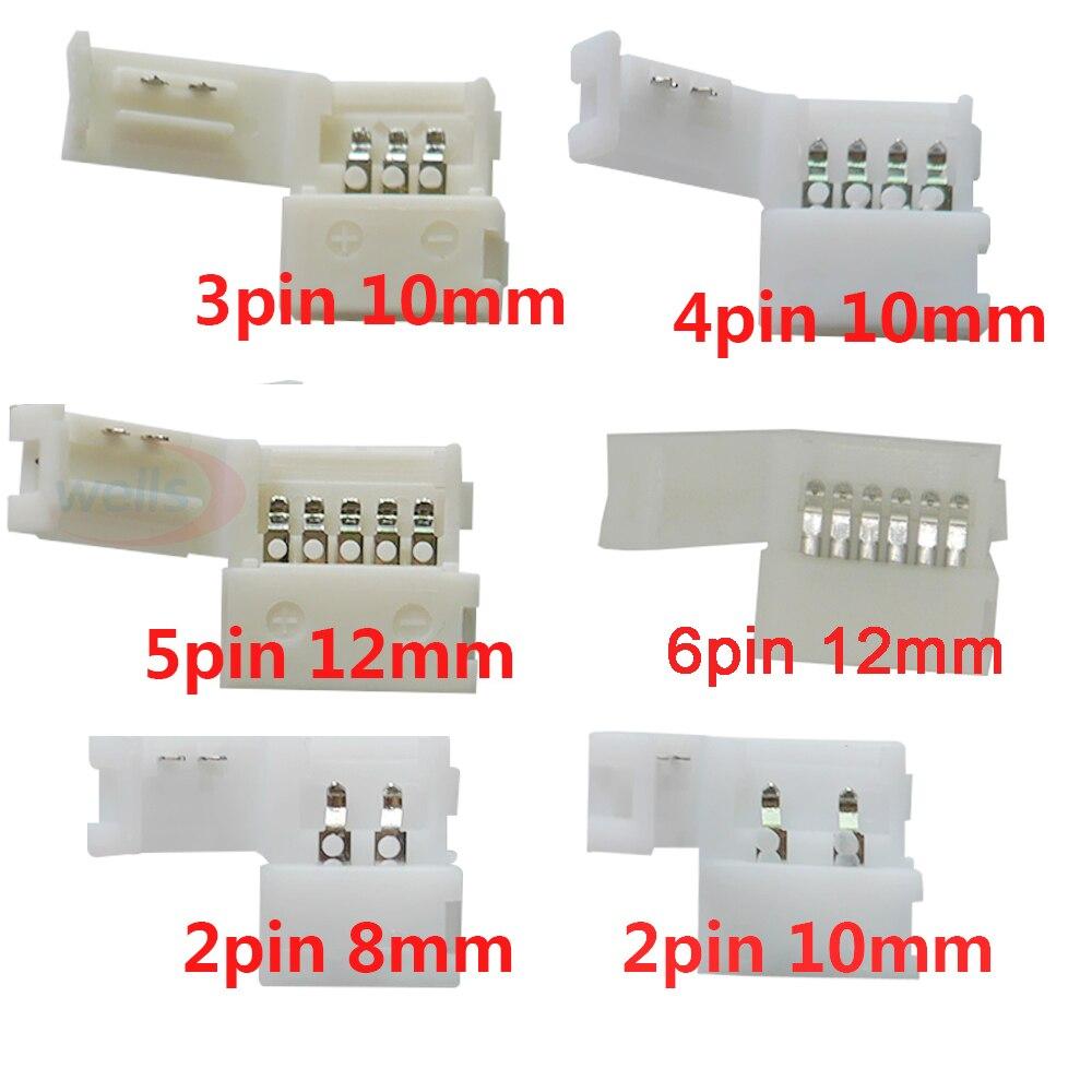 5 ~ 1000 Uds. 2pin 3pin 4pin 5pin 6pin led Clip conector, para 5050 3528 3014 WS2812b LED color único/RGB RGBW RGBWW tira de luz