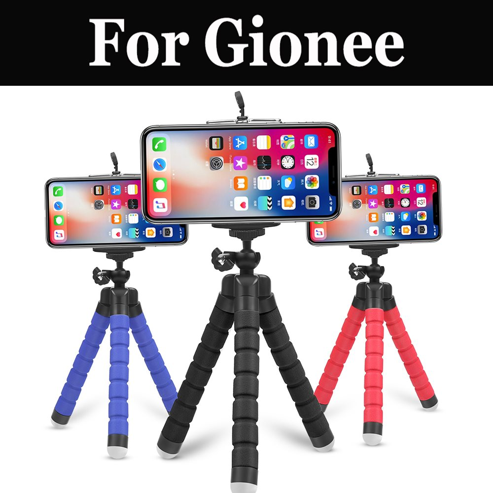 Portátil Mini esponja Flexible pulpo trípode soporte para la cámara del teléfono soporte para Gionee S8 acero 2 S9 S10 M6s Plus A1 A1 Plus X1s