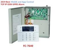 Systeme dalarme de securite domestique industriel  Ethernet RJ45  IP  TCP IP  GSM  8 zones filaires  32 zones sans fil  pour la famille