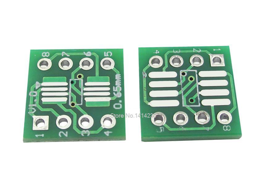 10 pçs/lote SOP8 MSOP8 SOIC8 TSSOP8 SOP8 turn DIP8 IC adaptador de Tomada Adaptador de placa PCB