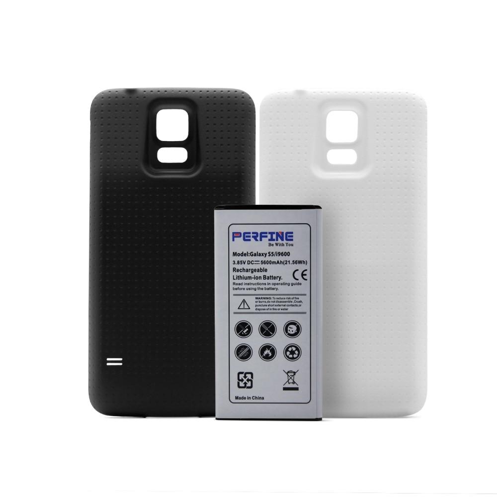 Аккумулятор i9600, 5600 мАч, 3,85 В, запасной аккумулятор для Samsung Galaxy S5 G900, NFC, расширенный аккумулятор + 2 чехла, черно-белый