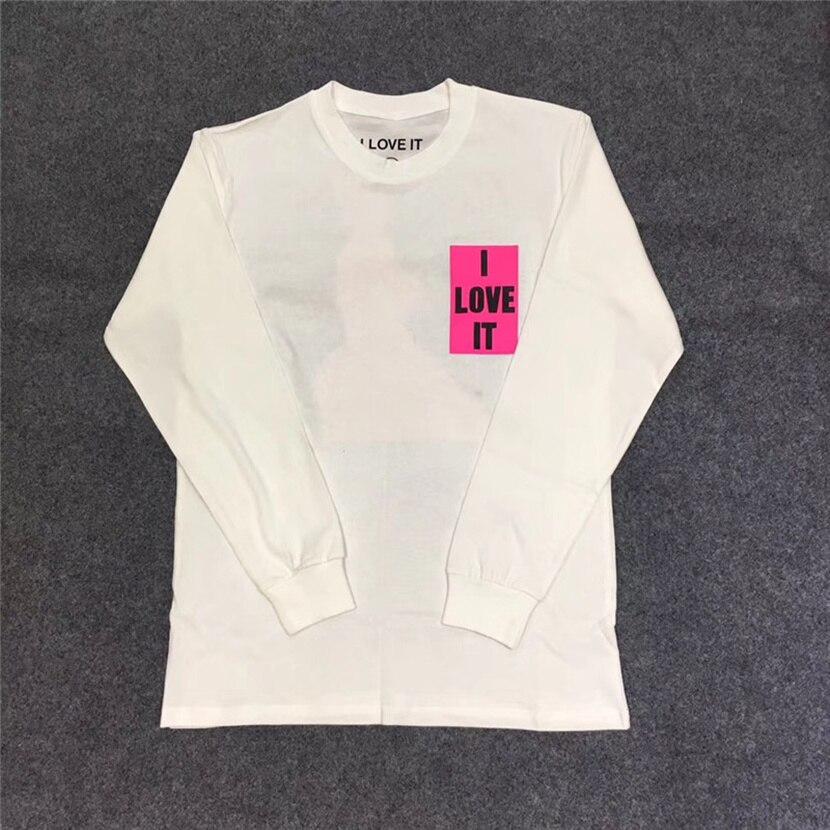 Kanye West y Lil Pump I LOVE IT Camisetas largas ropa de calle Graffiti Kanye West niños ver fantasmas Camiseta de manga larga
