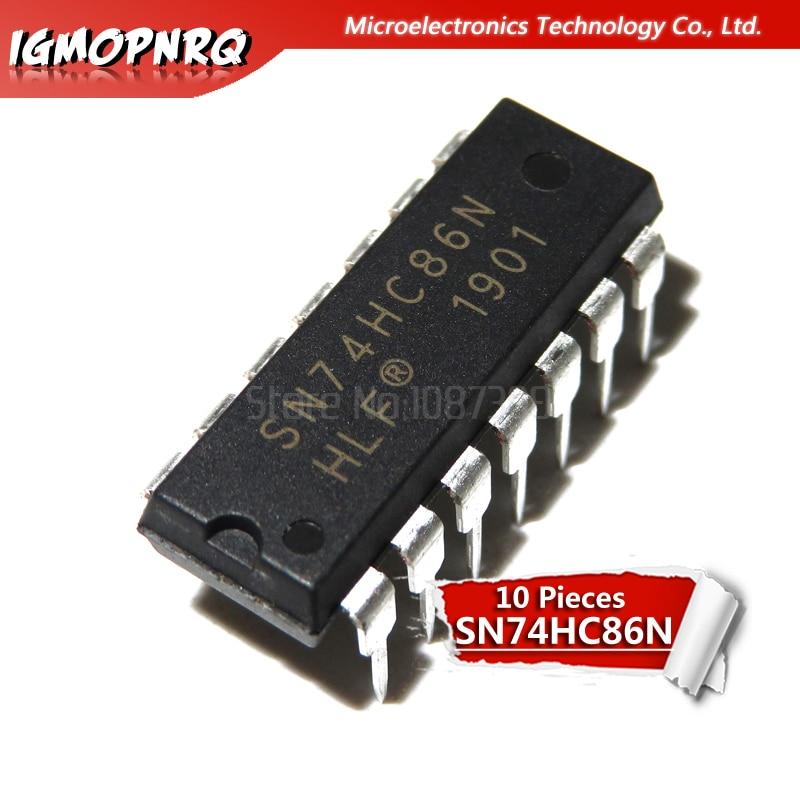 10pcs 74HC86N SN74HC86N 74HC86 SN74HC86 DIP-14 Portas Lógicas QUAD EXCE-OR 2-ENTRADA PORTÃO original novo