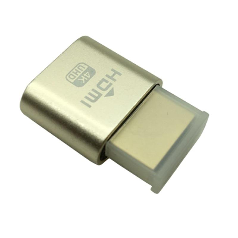 10PCS VGA Virtual Display Adapter HDMI 1.4 DDC EDID Dummy Plug Headless Ghost Display Emulator Video card Lock plate
