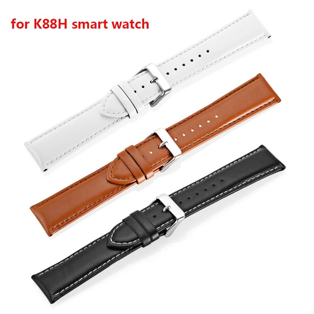Смарт-часы K88H 22 мм кожаный ремешок с пряжкой ремешок из нержавеющей стали сетчатый ремешок для смарт-часов K88H