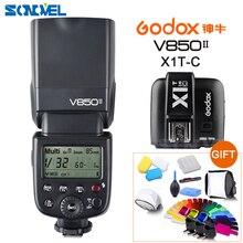 Godox V850II GN60 HSS 2.4G sans fil X système Flash Speedlite Li-ion batterie + émetteur de X1T-C pour Canon 800D 760D 200D 77D 60D