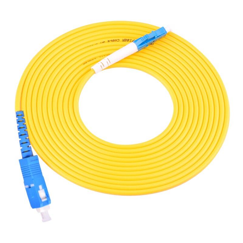 Cable de conexión óptica LC a SC, cable de puente, SM, modo simple, 9/125, 3 metros 10 Uds.