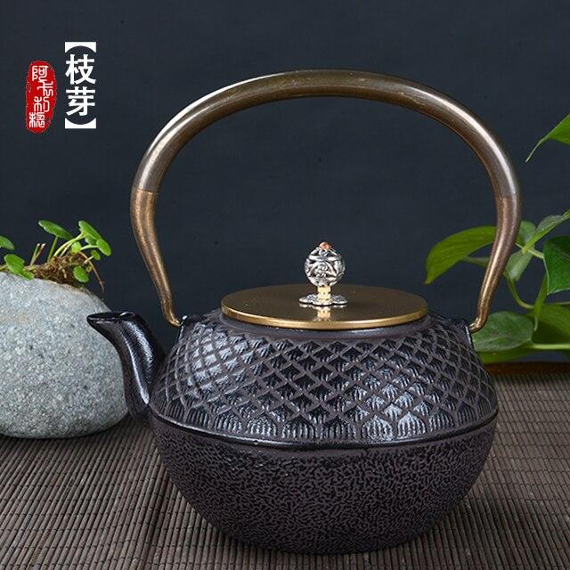 إبريق شاي من الحديد الزهر غير مطلي ، غلاية ، إبريق شاي من الحديد الزهر الياباني ، الكونغ فو