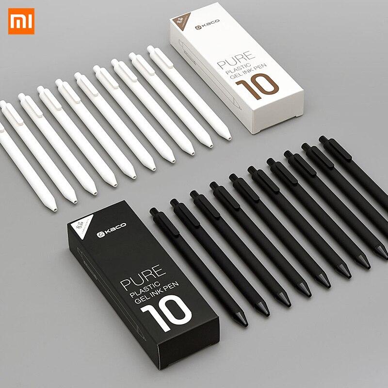 Xiaomi KACO 0,5 мм Xiao Mi ручка для подписи Gal чернила гладкие чернила для письма прочный черный запасной
