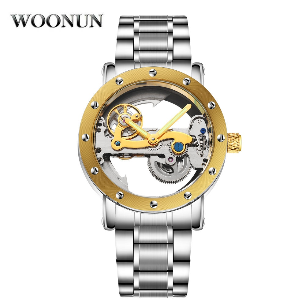 2020 New Tourbillon Watch Mens Skeleton Watches Top Brand Luxury Gold Plated Automatic Self-Wind Wat