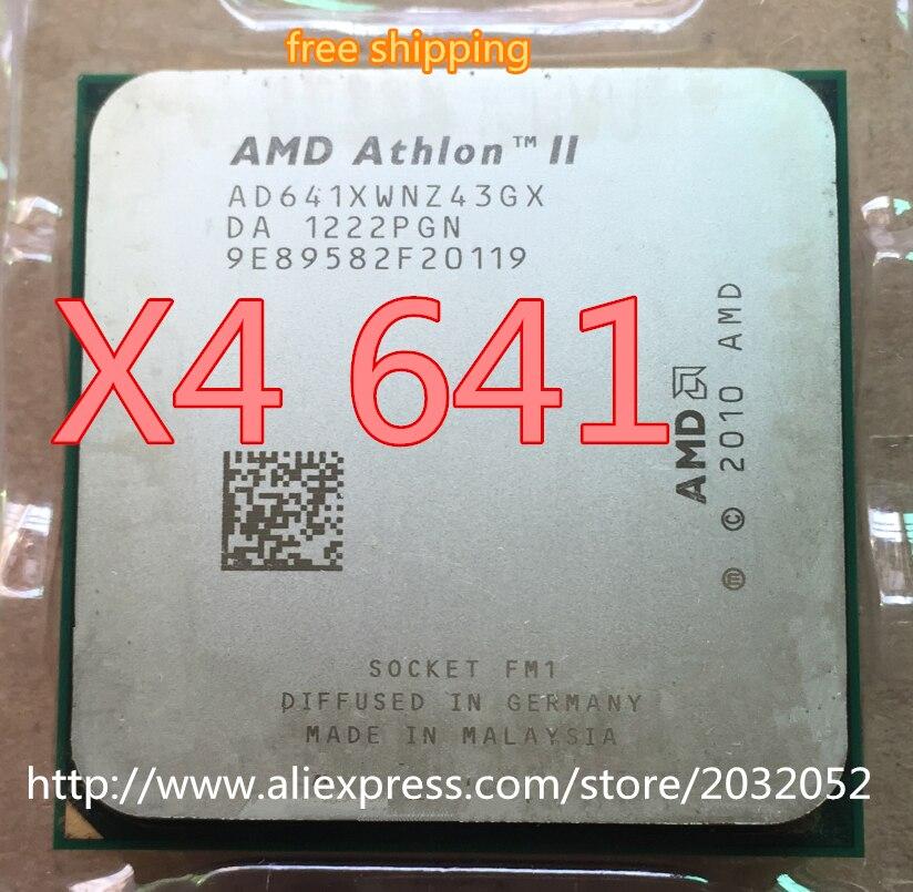 Процессор AMD Athlon II X4 641 FM1 2,8 ГГц 4 МБ, четырехъядерный процессор, разные детали (100% рабочий, бесплатная доставка)