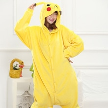 Pokemon Pikachu Kigurumi Onesies Cosplay pied nu une pièce pyjama Costume polaire vêtements enfants animal Pikachu pyjamas