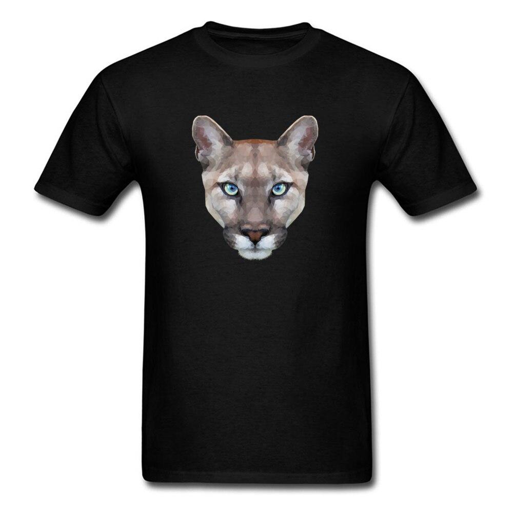 2018 Streetwear hombres leopardo gran gato negro Camiseta de algodón Fitness parte de arriba de estilo Hip Hop T camisas de manga corta obra de arte con acuarela imprimir