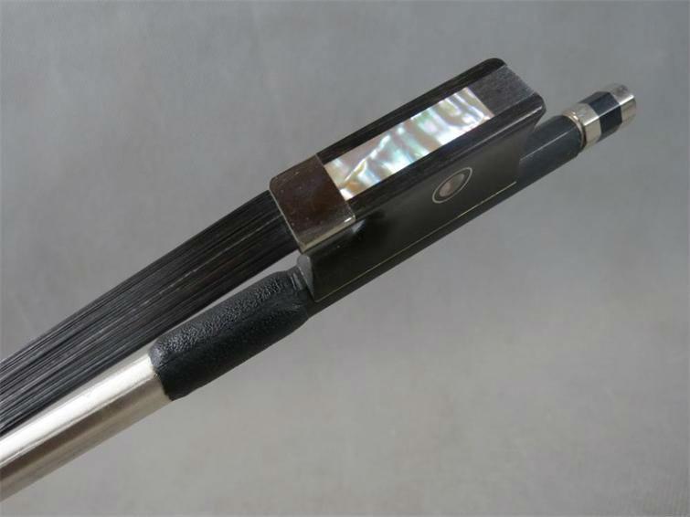 1 pc prefessional preto fibra de carbono violino arco 4/4 bom equilíbrio nataul cavalo preto ébano sapo peças cobre frete grátis