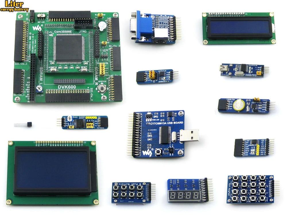 XILINX XC3S500E плата для оценки разработки FPGA, LCD1602 LCD12864 12 модуль = Open3S500E посылка B