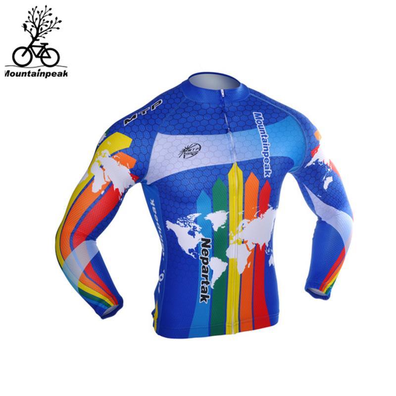 Camisas para correr de manga larga con cremallera chaquetas de ciclismo Impresión Digital gráfica MTB ciclismo Jersey transpirable secado rápido MP023